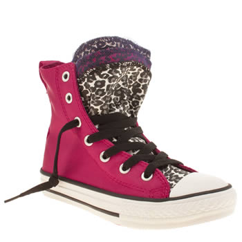 Converse Pink & Black Party Hi Girls Junior