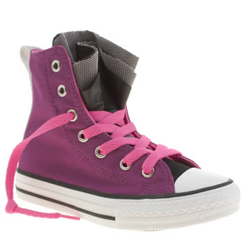Converse Pink All Star Party Hi Girls Junior