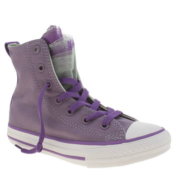 Girls Converse Lilac All Star Party Hi Girls Junior