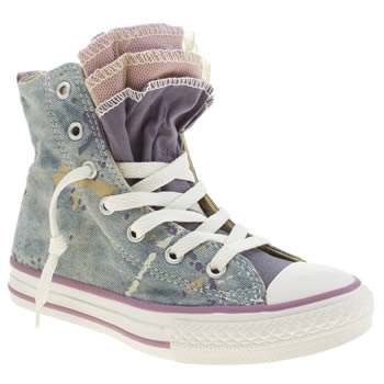 Girls Converse Multi All Star Party Hi Girls Junior