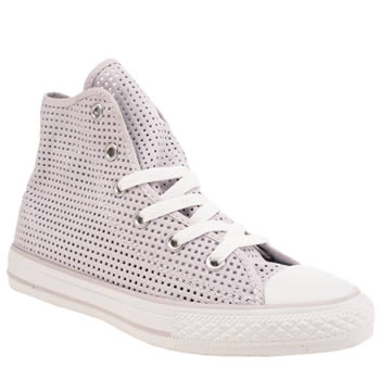 Girls Converse Lilac Chuck Taylor Summer Hi Girls Junior