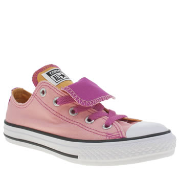 Converse Pale Pink All Star Double Tongue Girls Junior