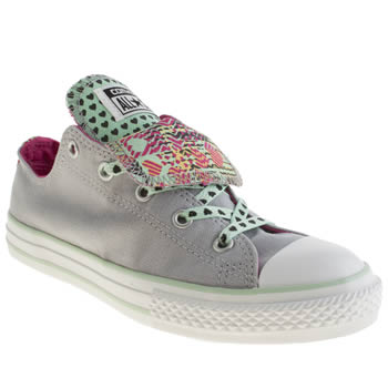 Converse Grey All Star Double Tongue Girls Junior