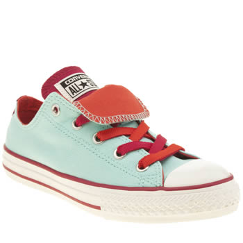Girls Converse Light Green All Star Double Tongue Girls Junior