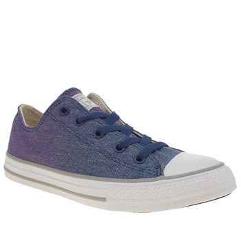 Converse Purple All Star Ox Sunset Wash Girls Junior