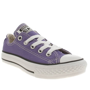 Girls Converse Purple All Star Oxford Girls Junior