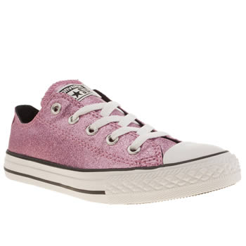 Converse Pink All Star Glitter Oxford Girls Junior