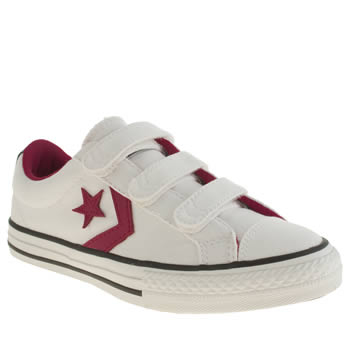Girls Converse White & Pink Star Player Oxford Girls Junior