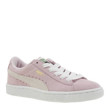 Girls Puma Pale Pink Suede Classic Girls Junior