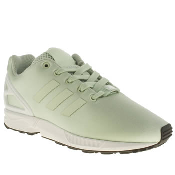 Girls Adidas Light Green Zx Flux Girls Junior