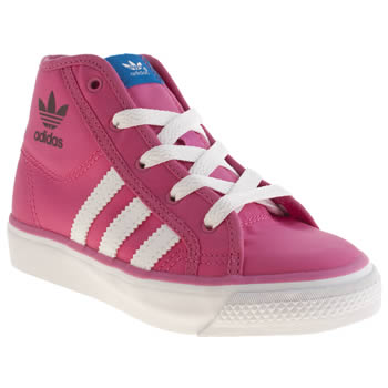 Adidas Pink Nizza Hi Girls Junior