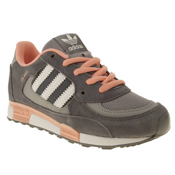 kids adidas dark grey zx 850 trainers