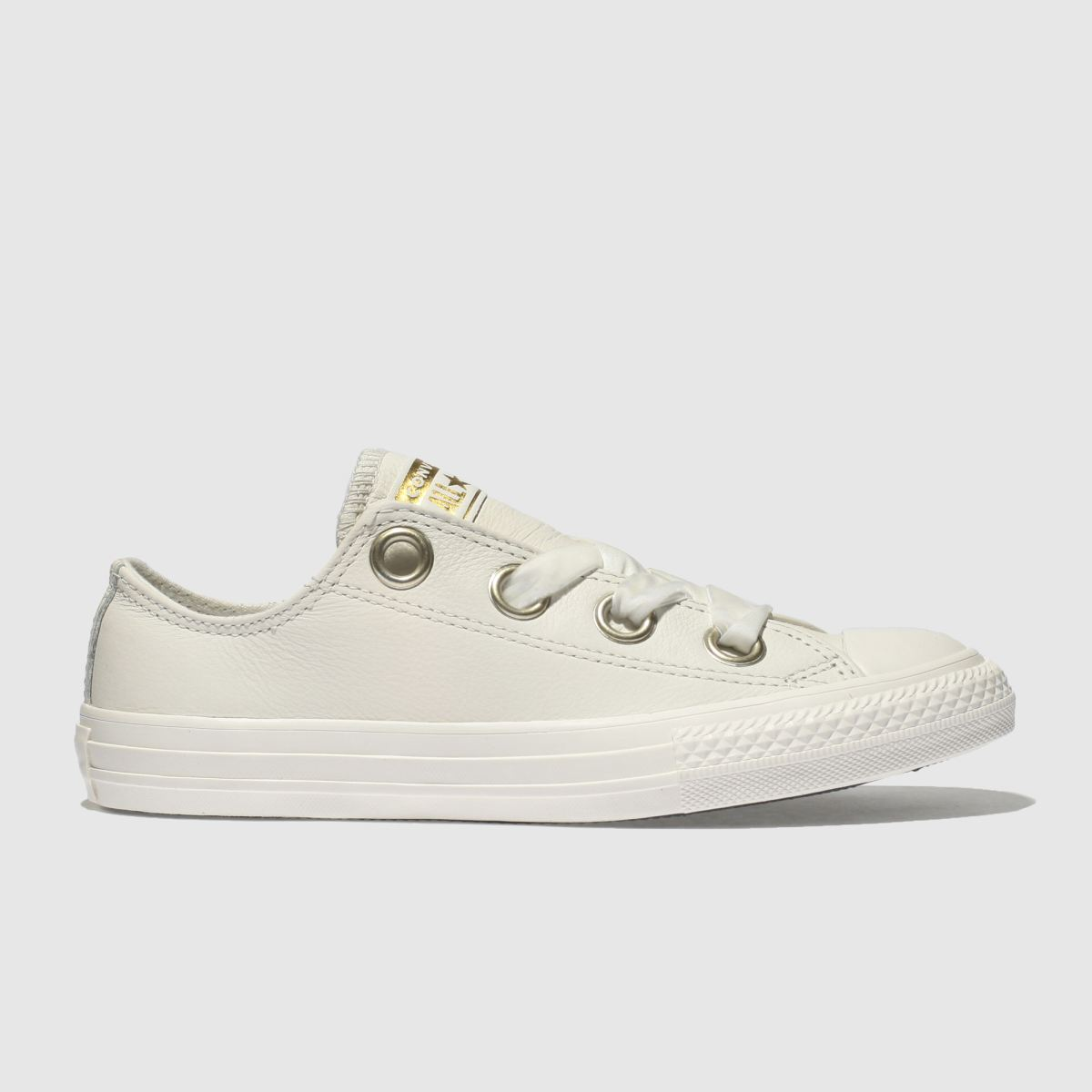 Converse White All Star Big Eyelets Lo Girls Junior Junior
