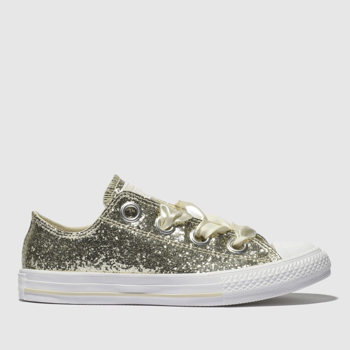 Converse Gold All Star Big Eyelets Lo Trainers Junior