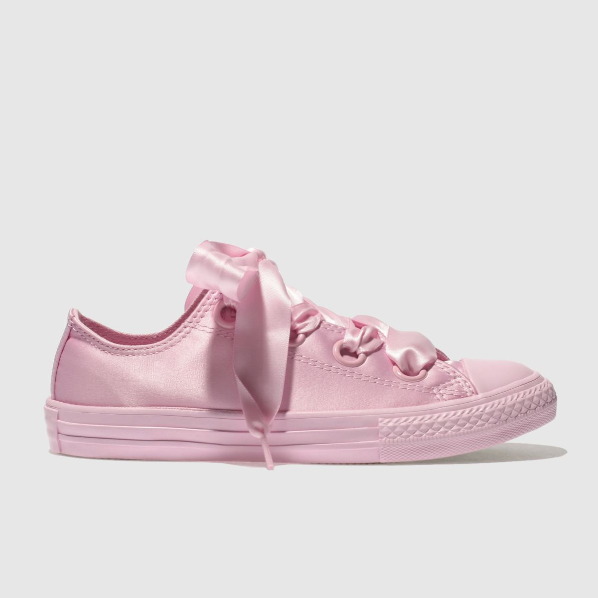 Converse Pink All Star Big Eyelets Lo Trainers Junior