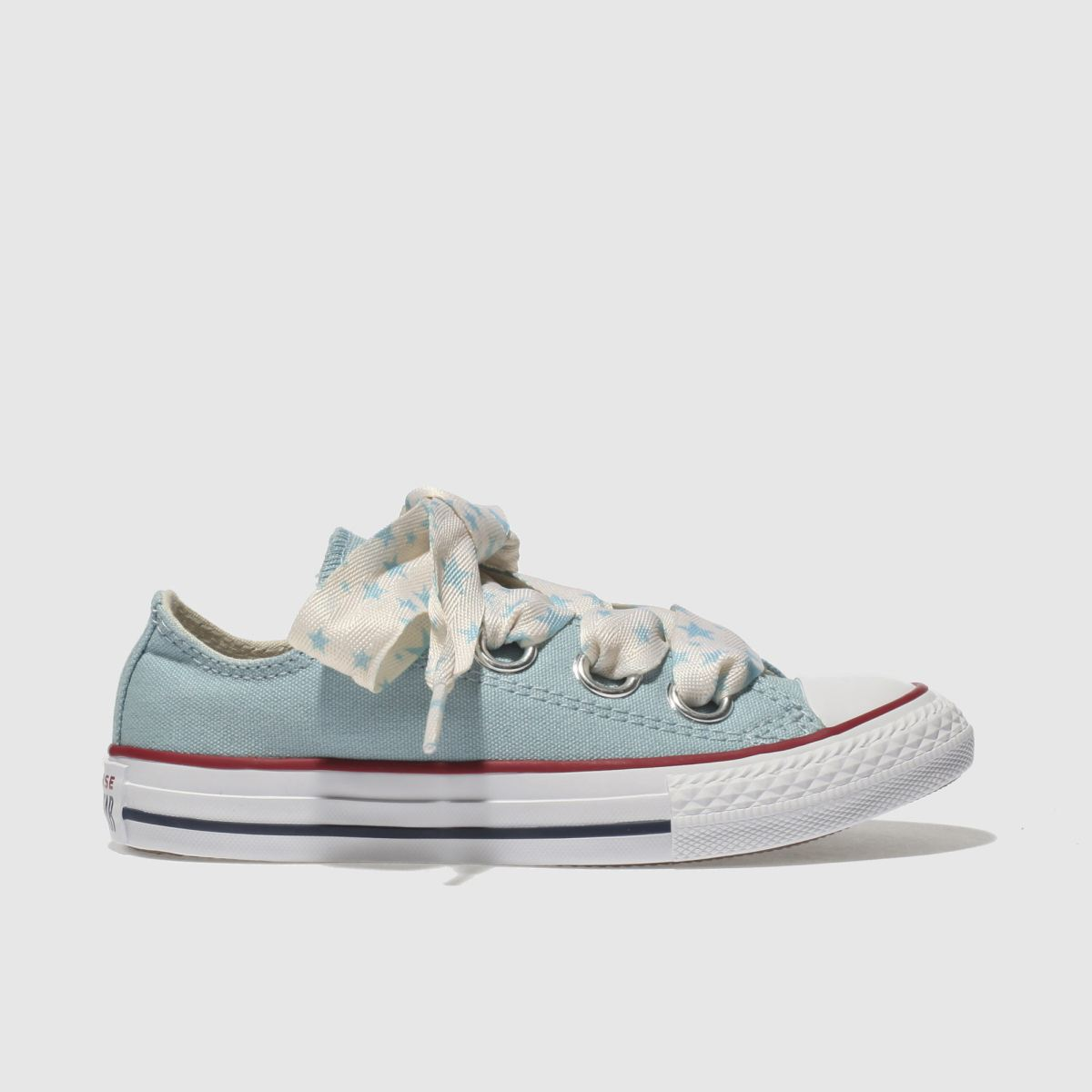 Converse Pale Blue All Star Big Eyelets Lo Girls Junior Junior
