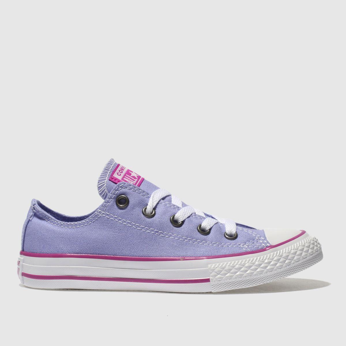 Converse Purple Chuck Taylor All Star Ox Girls Junior Trainers