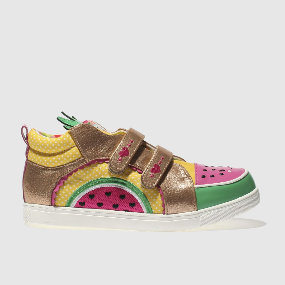 Irregular Choice Irregular Choice Gold Fruit Salad Girls Junior Trainers