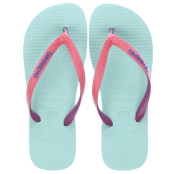 HAVAIANAS PALE BLUE TOP MIX GIRLS JUNIOR SANDALS