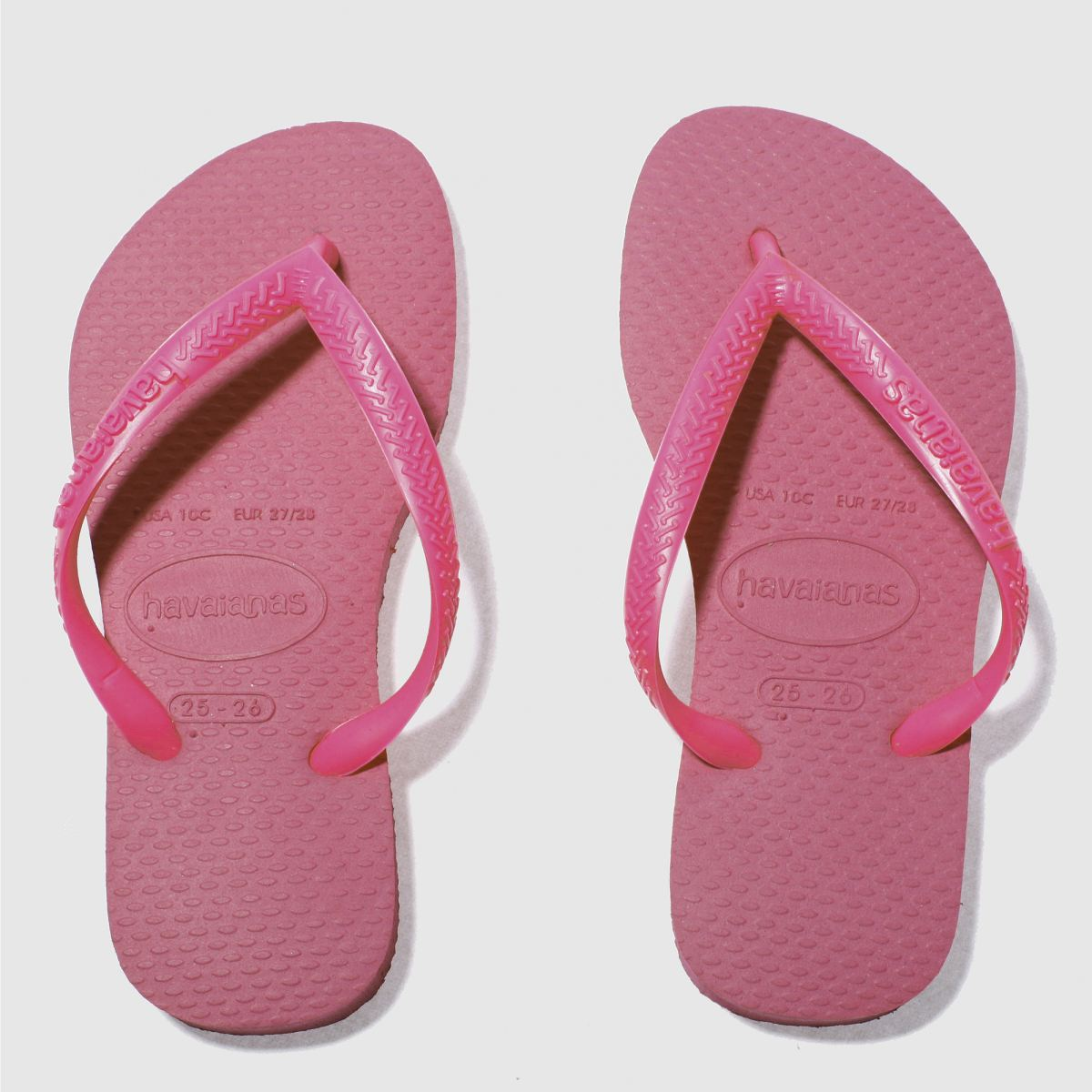 Havaianas Pink Slim Girls Junior Sandals
