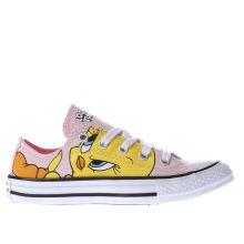 Converse Pink & Yellow Looney Tunes Tweety Girls Junior