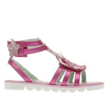 Irregular Choice Pink Crab Gladiator Girls Junior