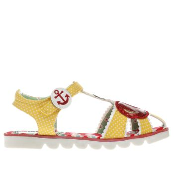 Irregular Choice Yellow Cherry Girls Junior