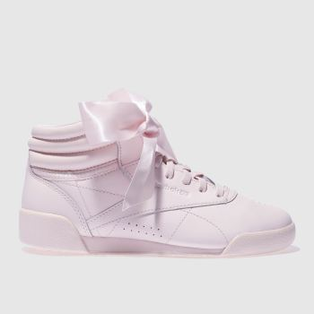 Reebok Pink Freestyle Hi Bow Girls Junior