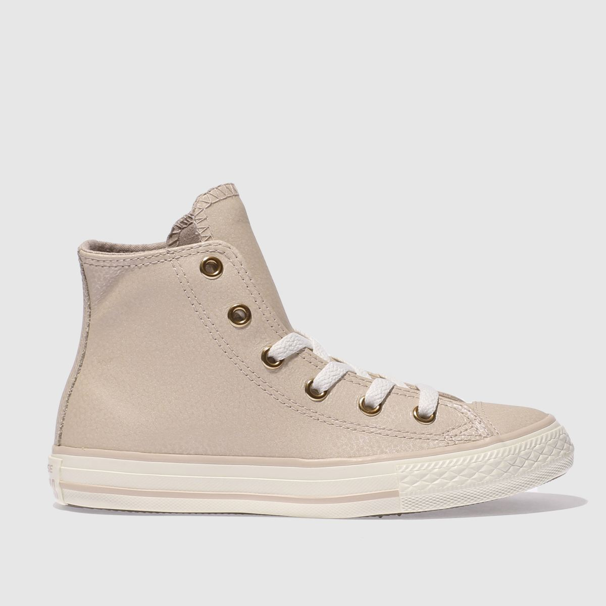 Converse Pale Pink Chuck Taylor All Star Hi Girls Junior Trainers
