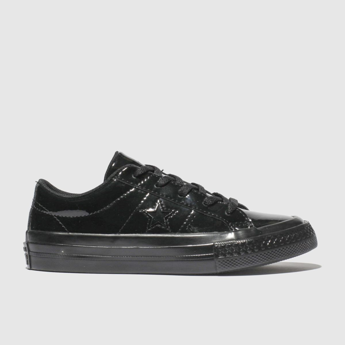 Converse Black One Star Lo Trainers Junior