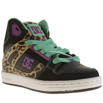 Dc Shoes Black & Brown Rebound Girls Junior