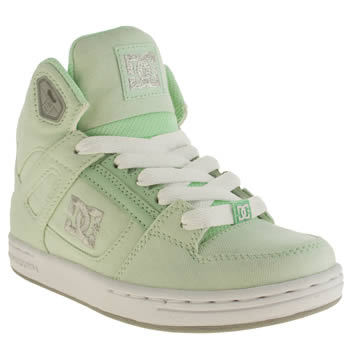 Dc Shoes Light Green Rebound Jnr Girls Junior