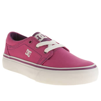 Dc Shoes Pink Trase Tx Girls Junior