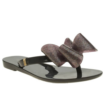 Melissa Black Harmonic Flip Flop Girls Junior