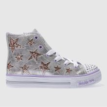 Skechers Silver Shuffles Rockin Stars Girls Junior