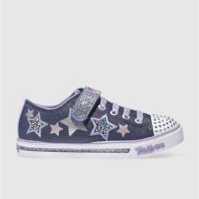 Skechers Navy Sparkle Glitz Twinkerella Girls Junior
