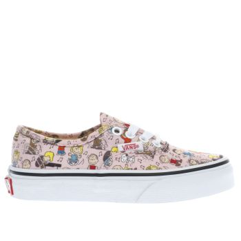 Vans Pale Pink AUTHENTIC PEANUTS DANCE Girls Junior