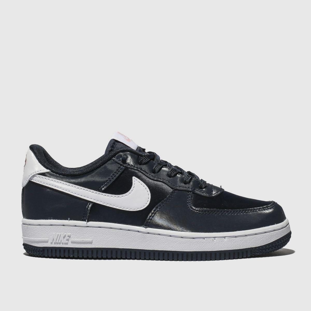 Nike Navy & White Air Force 1 Vday Trainers Junior