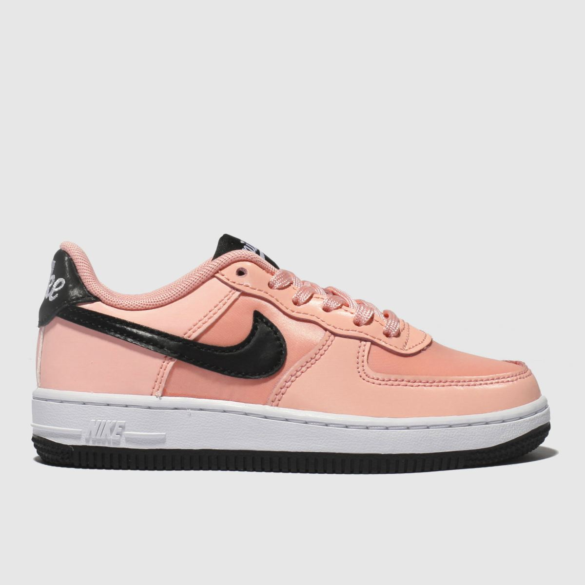 Nike Pink & Black Air Force 1 Vday Trainers Junior