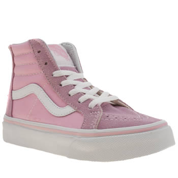 Vans Pale Pink Sk8-hi Zip Girls Junior