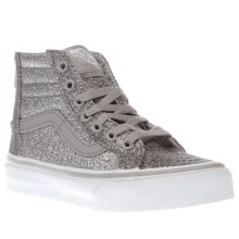 Vans Silver Sk8-hi Zip Girls Junior