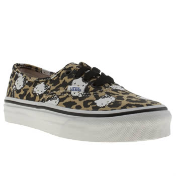 Vans Black & Brown Authentic Hello Kitty Girls Junior
