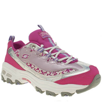 Skechers Pink D-lites Show Time Girls Junior