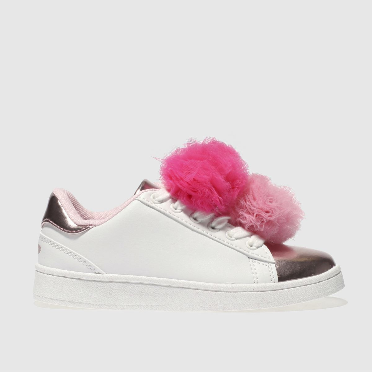 Lelli Kelly Lelli Kelly  White & Pink Pon Pon Sneaker Girls Junior Trainers