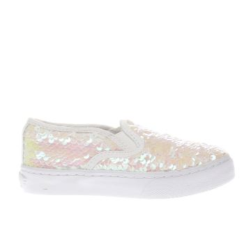 Lelli Kelly White Chiara Sequin Girls Junior