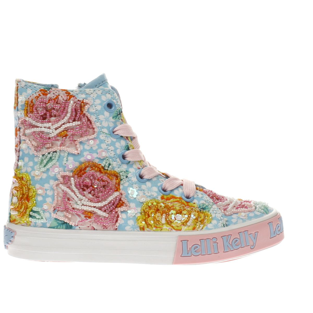 Lelli Kelly Lelli Kelly  Pale Blue & Pink Rosie Mid Girls Junior Trainers