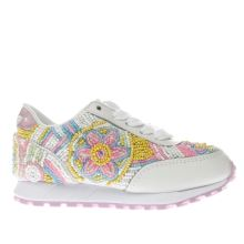 Lelli Kelly White & Pink Sneakerissima Girls Junior