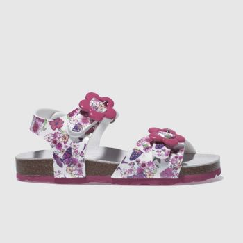 Lelli Kelly White & Pink Sonia Sandal Girls Junior