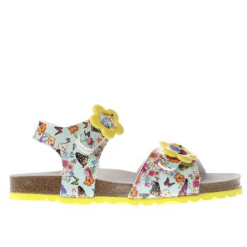 Lelli Kelly Turquoise & Yellow Sonia Sandal Girls Junior
