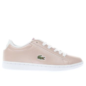 Lacoste Pink Carnaby Evo Girls Junior